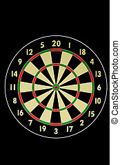 A stock photograph of a dart board.