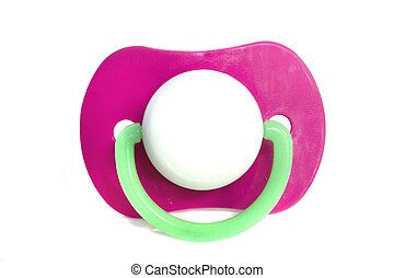 A stock photograph of a babies pacifier.