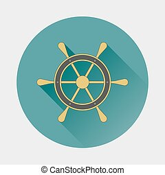 Ship wheel Icon.