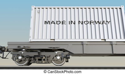 Moving cargo train and containers with MADE IN NORWAY...