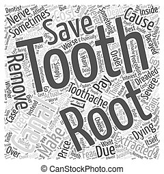 The Dreaded Root Canal Word Cloud Concept