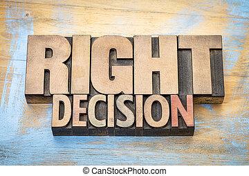權利, 詞, 決定, 木頭, 類型, 摘要