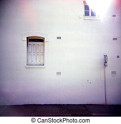 A small window. - A stock photograph of a small window in a...