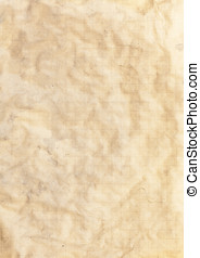 Paper old vintage crumpled texture - A crumpled old textured...