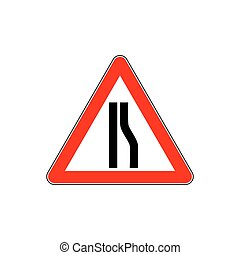 Traffic road sign narrow vector