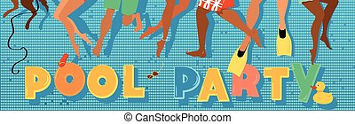 Pool party banner