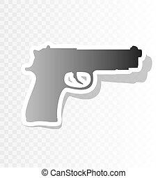 Ilustración, transición, año, arma de fuego, señal, Plano de...