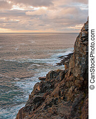 Otter Cliffs Sunrise with Clouds 3 - Otter Cliffs Sunrise...