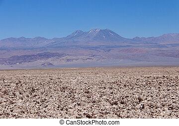 View of Licancabur from Salar de Atacama, Chile