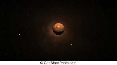 Towards Mars planet in the outer space