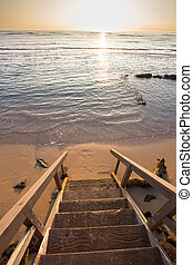 Private Stairway Beach Access in Hawaii - Private access to...