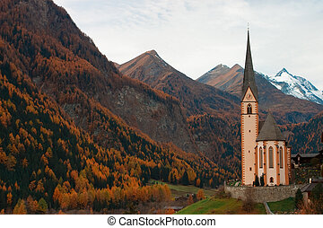 Church in Alpes - Famous church in the Heiligenblut in...