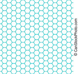 Seamless hexagons pattern. Vector art.