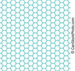 Seamless hexagons pattern. Vector art.