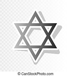 Shield Magen David Star. Symbol of Israel. Vector. New year...