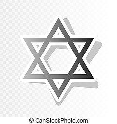 Shield Magen David Star. Symbol of Israel. Vector. New year...