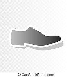 Men Shoes sign. Vector. New year blackish icon on...