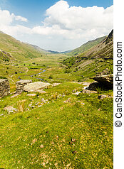 Nant Ffrancon Pass from Idwal Cottage - View of Nant...