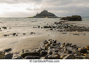 St. Michaels Mount from Marazion - View from Marazion Beach...