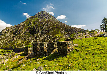 Pen yr Ole Wen mountain from Idwal Cottage. - View from...
