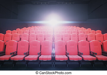 Red cinema seats front