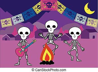 day of the dead 10 - It is a vector illustration in EPS file