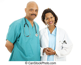 Good Looking Doctors - Beautiful african-american medical...
