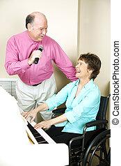 Happy Mature Musicians
