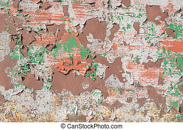 surface of rusty iron with remnants of old paint texture background