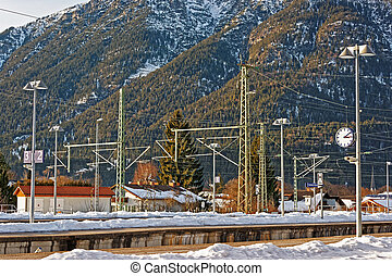 Railway train station Garmisch Partenkirchen - Railway train...
