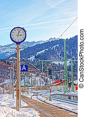 Railway train station at Garmisch Partenkirchen - Railway...