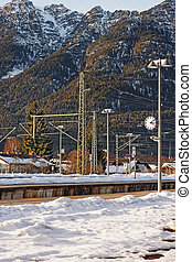 Railway train station in Garmisch Partenkirchen - Railway...