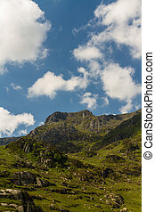 Y Garn mountain from Idwal Cottage. - View from Idwal...