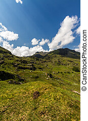 Y Garn mountain and hills from Idwal Cottage. - View from...