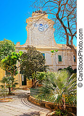 Clock tower at Prince Alfred Courtyard in Valletta - Clock...