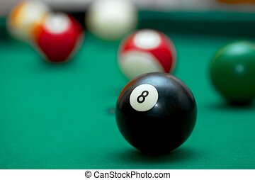 Billiards - Pool table game situation