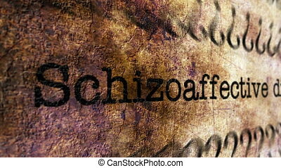 Schizoaffective disorder grunge concept