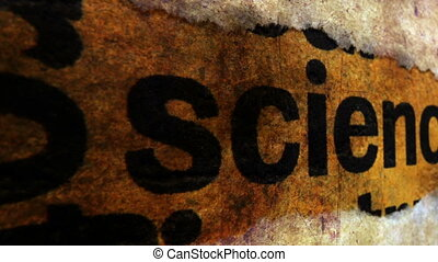 Science text on grunge background
