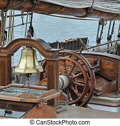 Timón,  ship\'s, Navegación