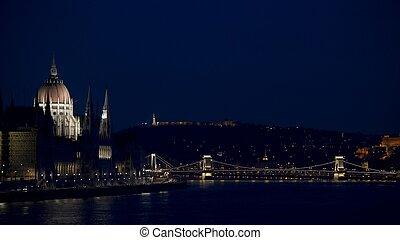 Parlament - Budapest night scene with the parliament...