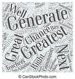 The Greatest Generation Word Cloud Concept