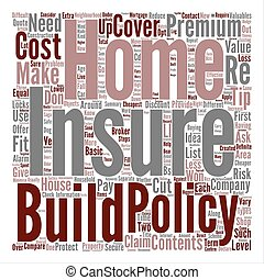 Tips For Cheaper Home Insurance Word Cloud Concept Text Background