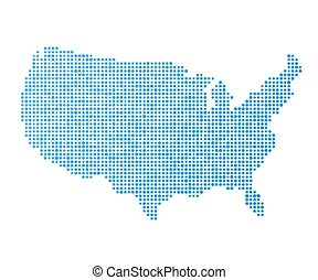 Stylized USA map - Stylized mainland USA map vector...