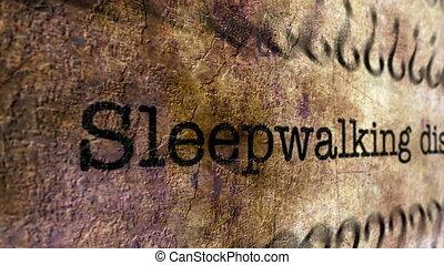 Sleepwalking disorder grunge concept
