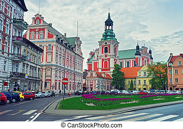 St Stanislaus Church in Old town of Poznan - St Stanislaus...