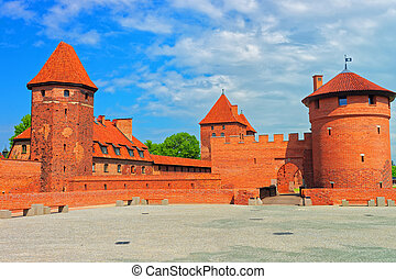 Malbork Castle Poland - Malbork, Poland - May 8, 2014:...