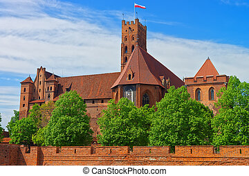 Malbork Castle Pomerania Poland - Malbork Castle also called...