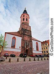 Facade of Baden Baden church Stiftskirche Germany - Facade...