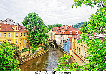 Kampa Island with Certovka River and Watermill in Old Praga...