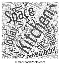 Todays Kitchens Word Cloud Concept